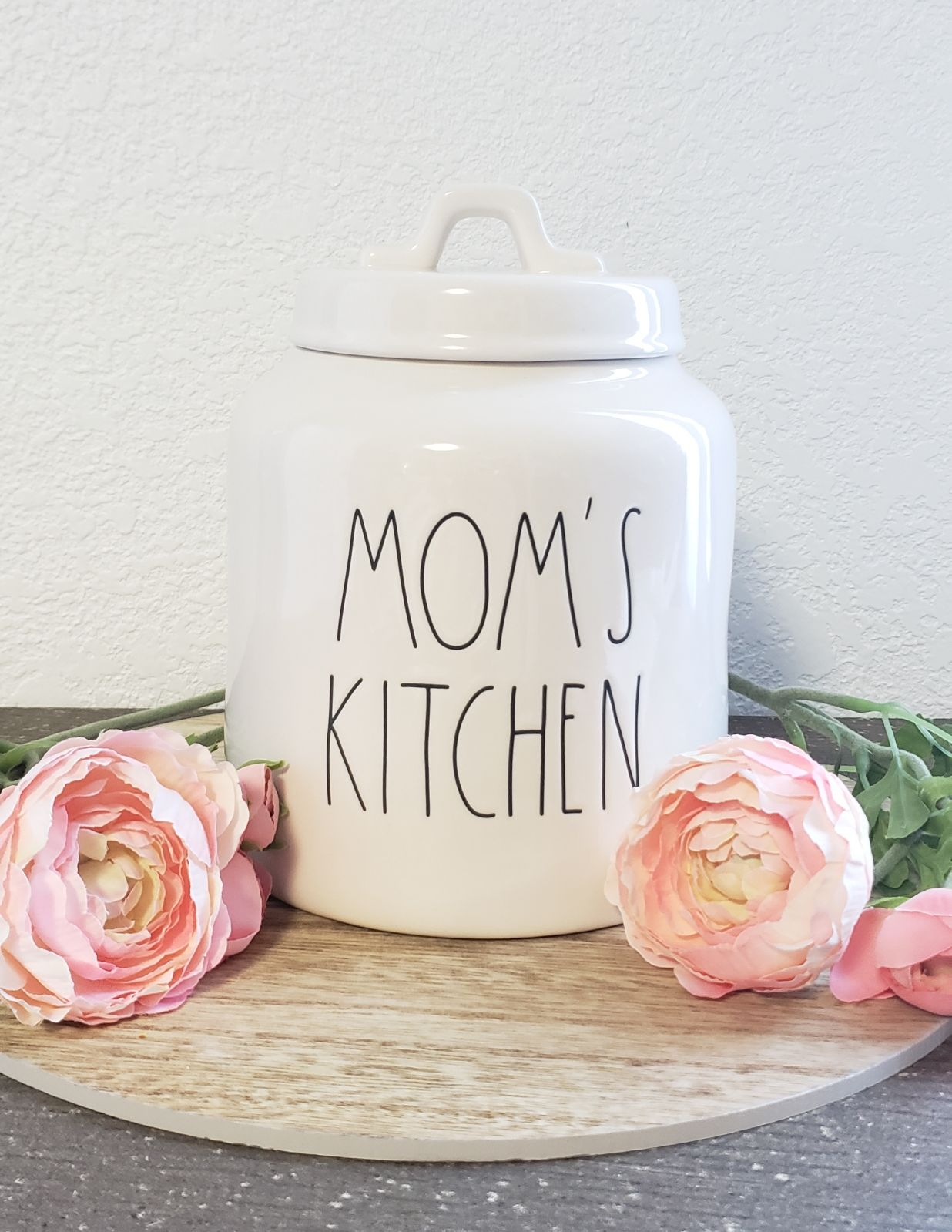 "Rae Dunn ""MOM'S KITCHEN"" Canister"