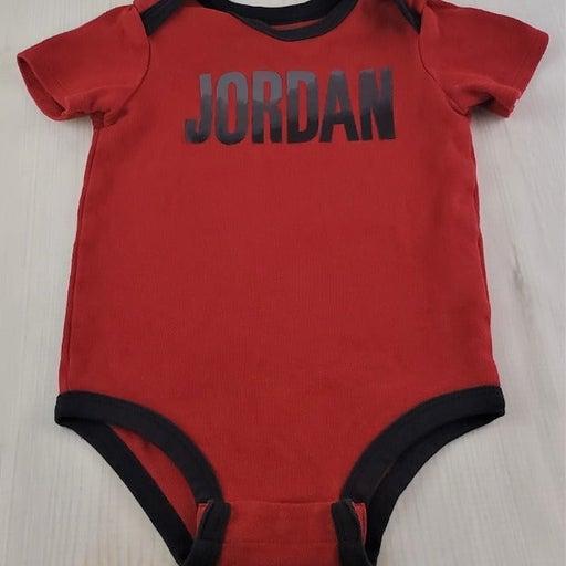 Air Jordan Jumpman Short Sleeve One Piece Size 9-12 Month Baby - Red & Black