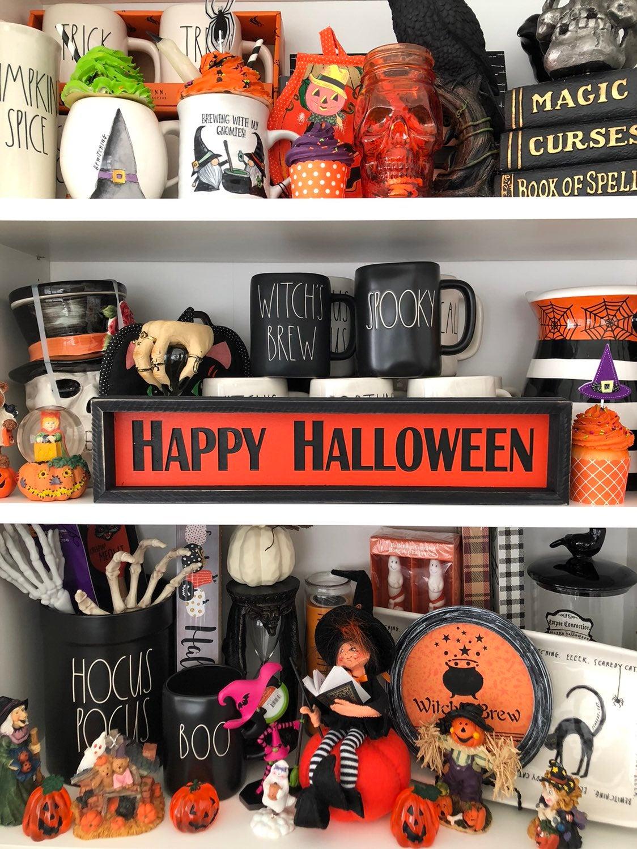 Halloween Happy Halloween Wood Sign