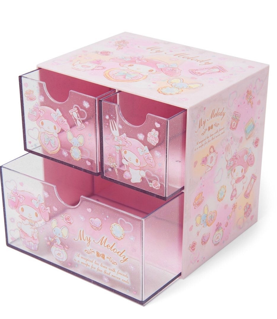 Sanrio My Melody 3 Drawer Sparkle Chest