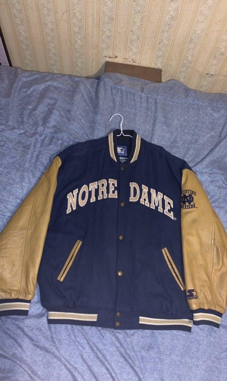 VTG Notre Dame Letterman Jacket (Starter