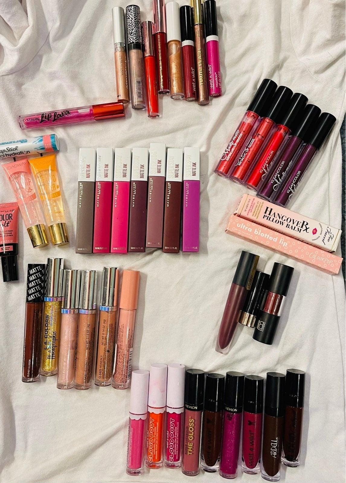 Lot of lip glosses