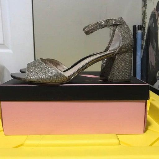 Nina Gold Glitter Sandals