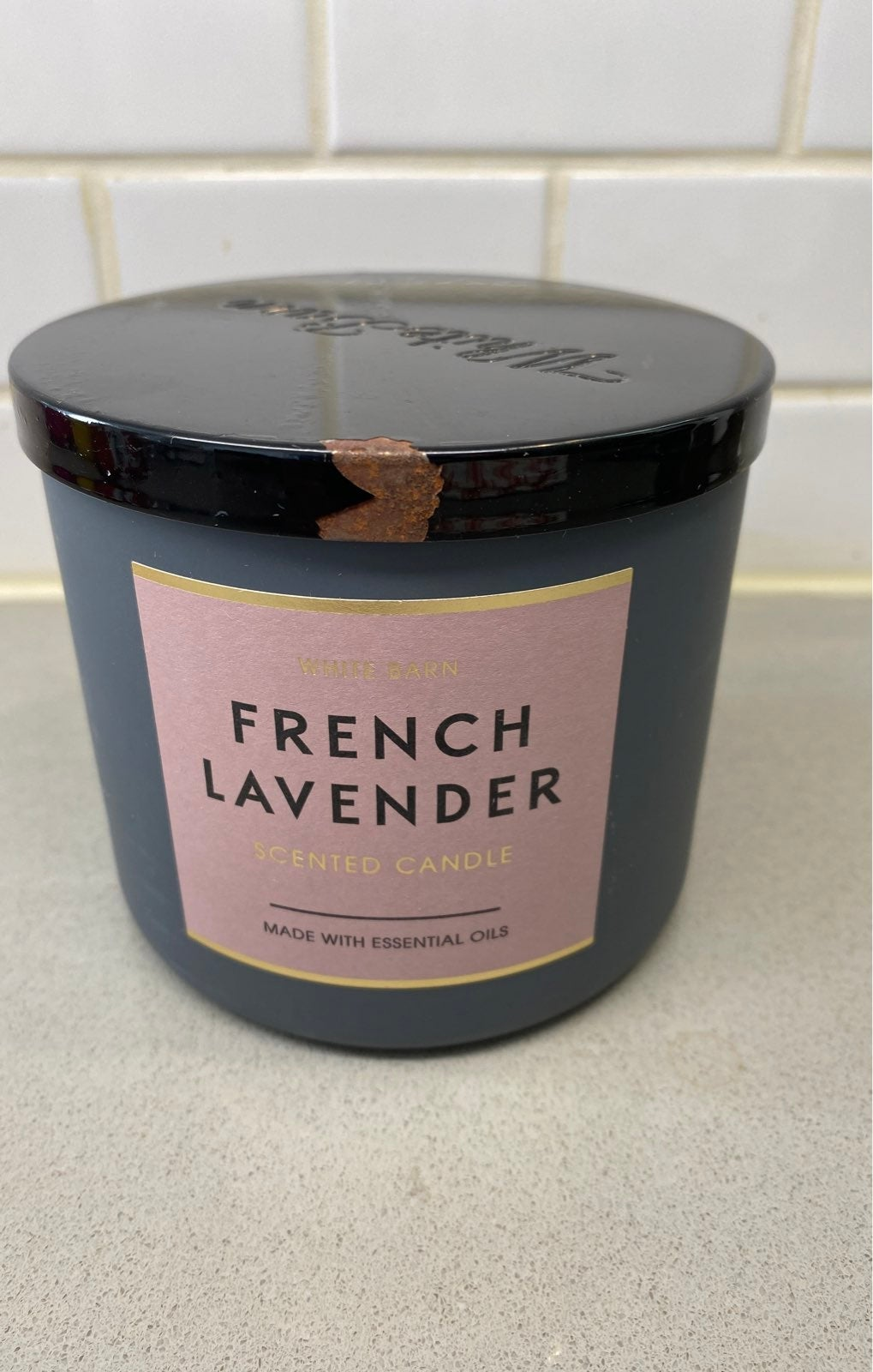 BBW French Lavender Candle SEE LID PIC