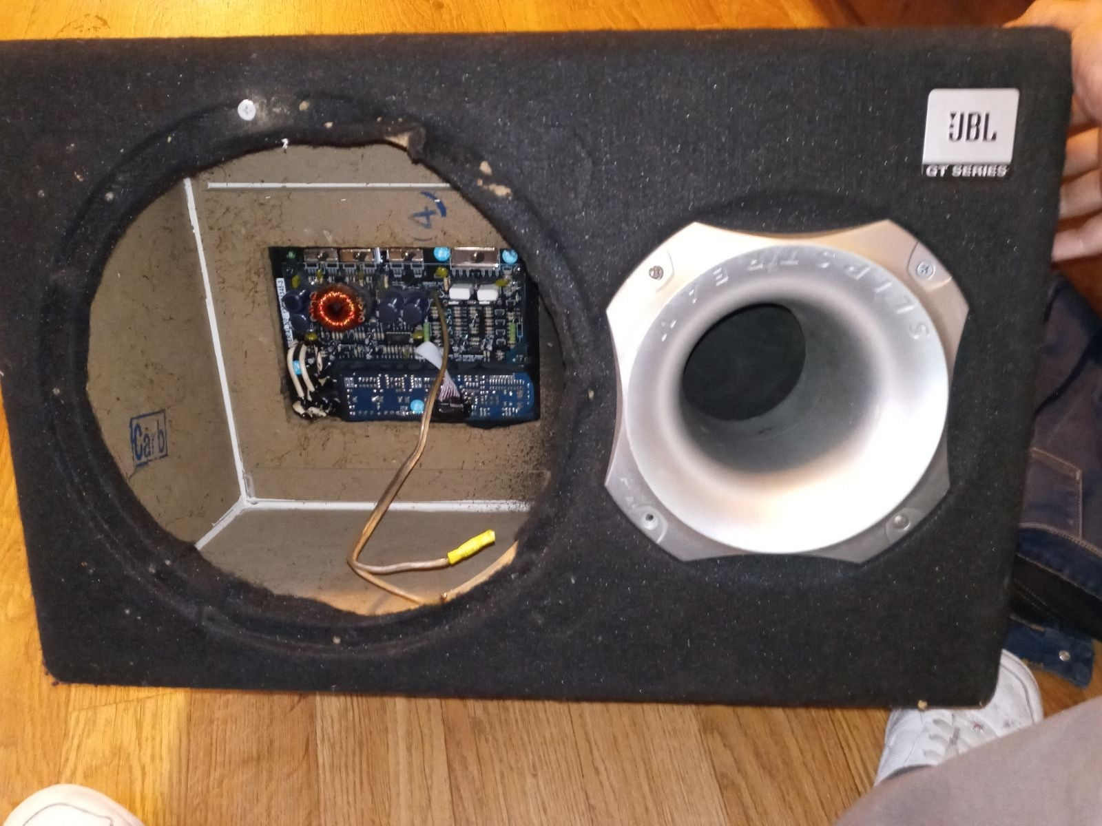 powered subwoofer box