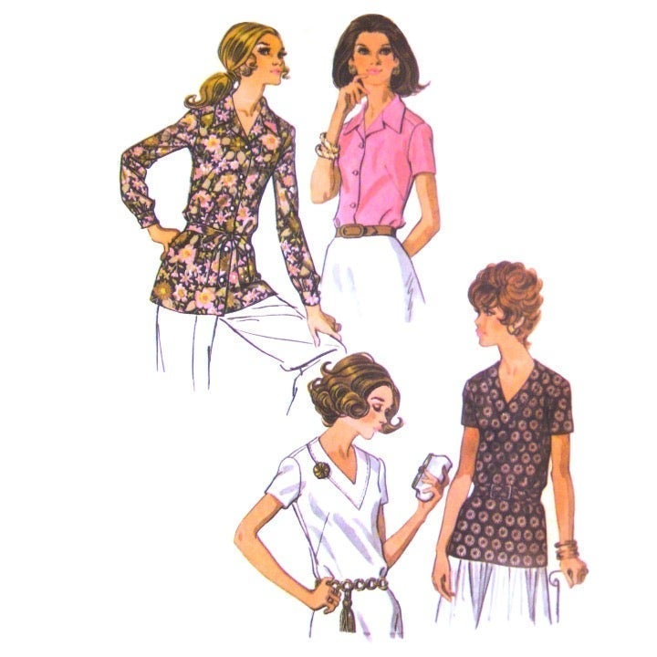 1970s McCalls 2346 Easy Shirt Top 18.5