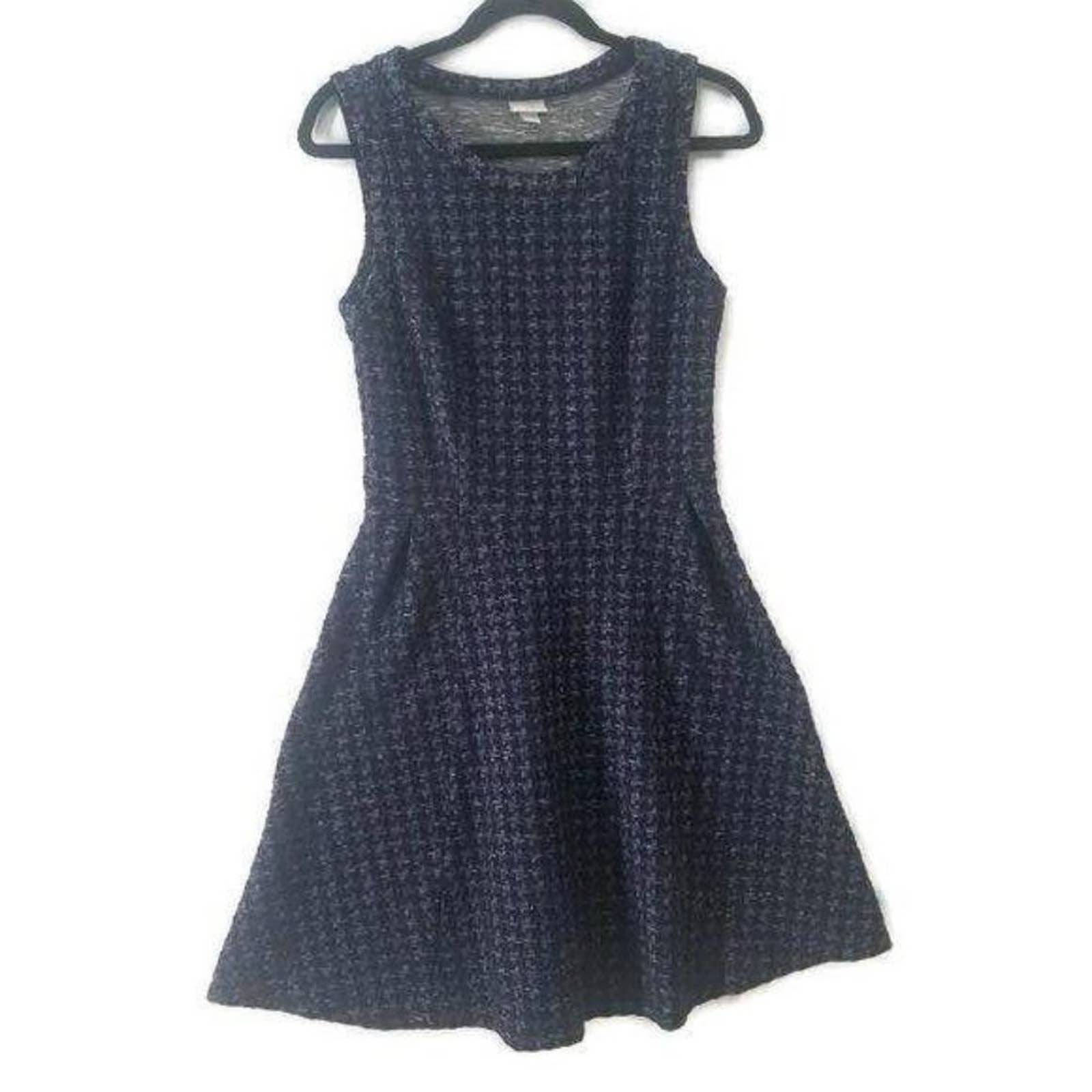 Merona S Blue Fit Flare Sleeveless Dress