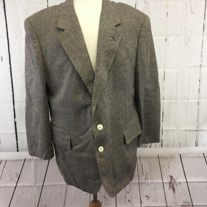 Savile Row Blazer Suit Jacket 44 R Gray