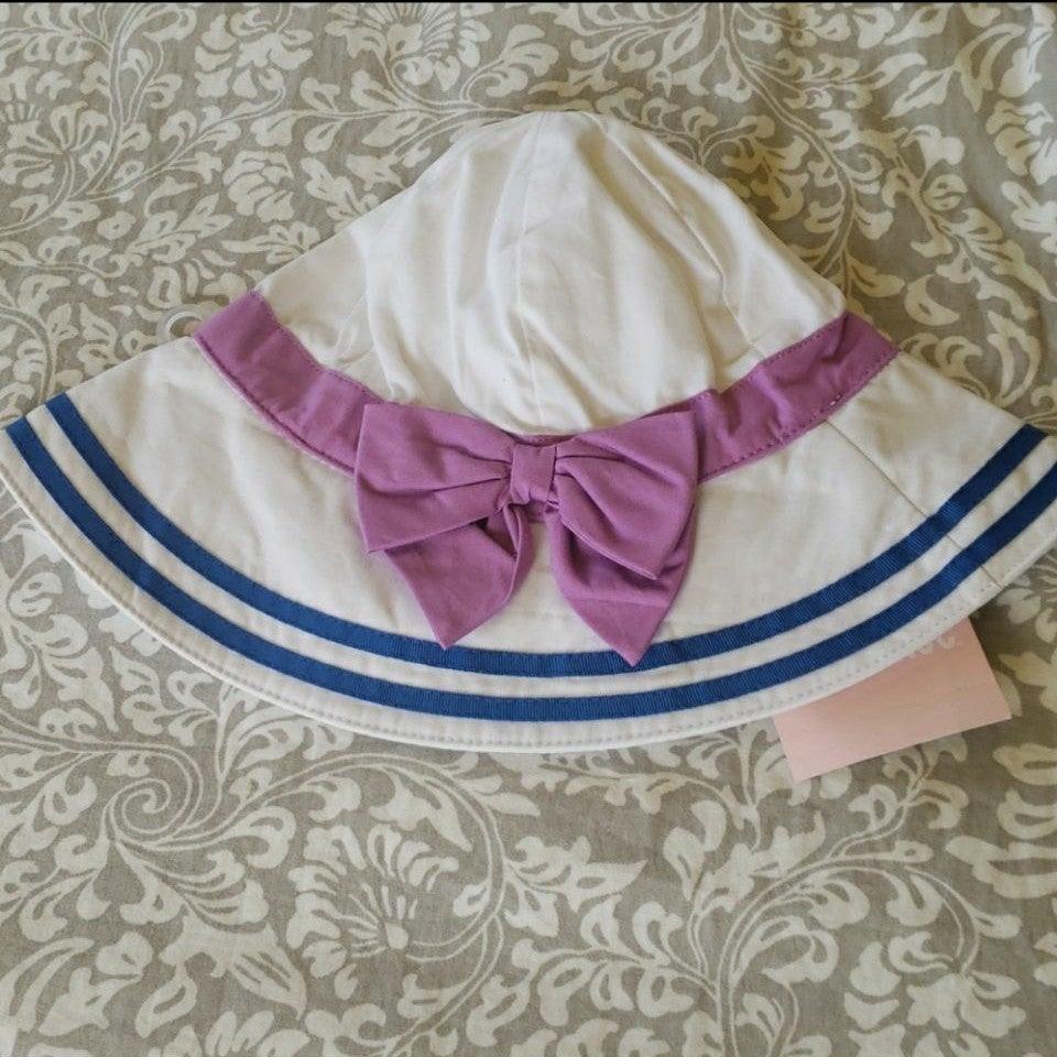 Gymboree NWT Nautical Bow Sun Hat