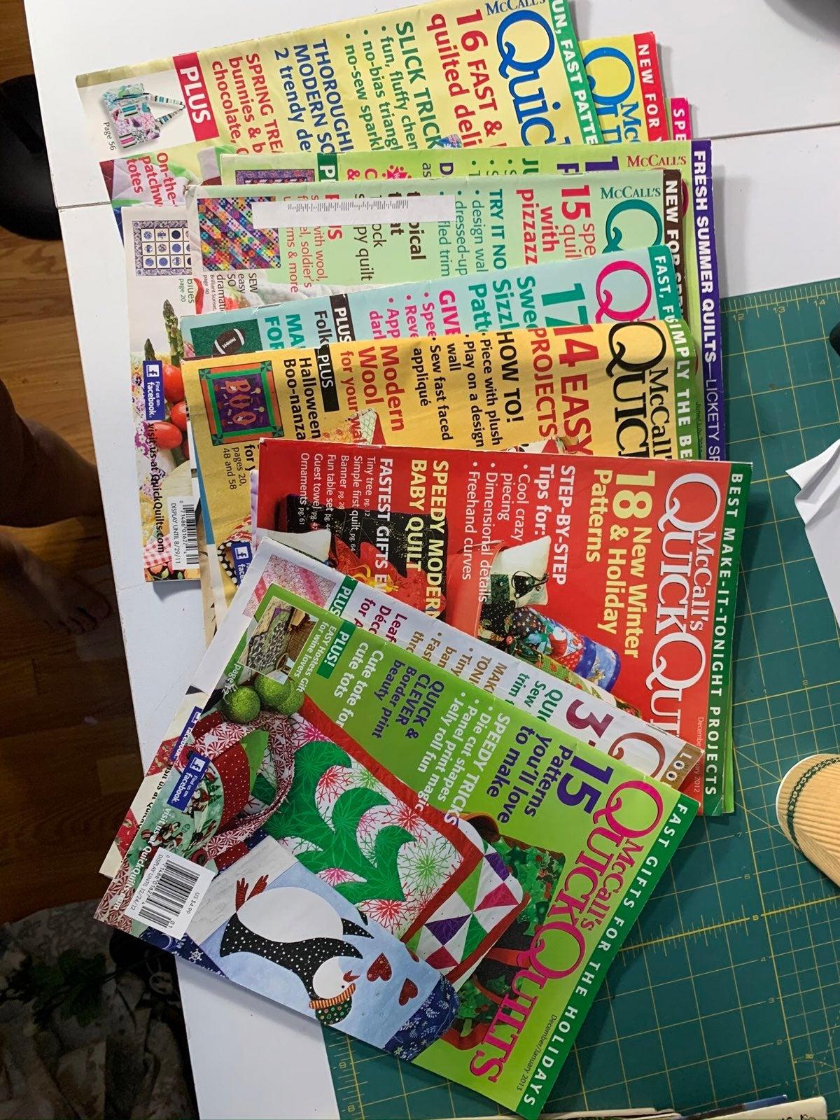 12 McCall's Quick Quilt Magazines