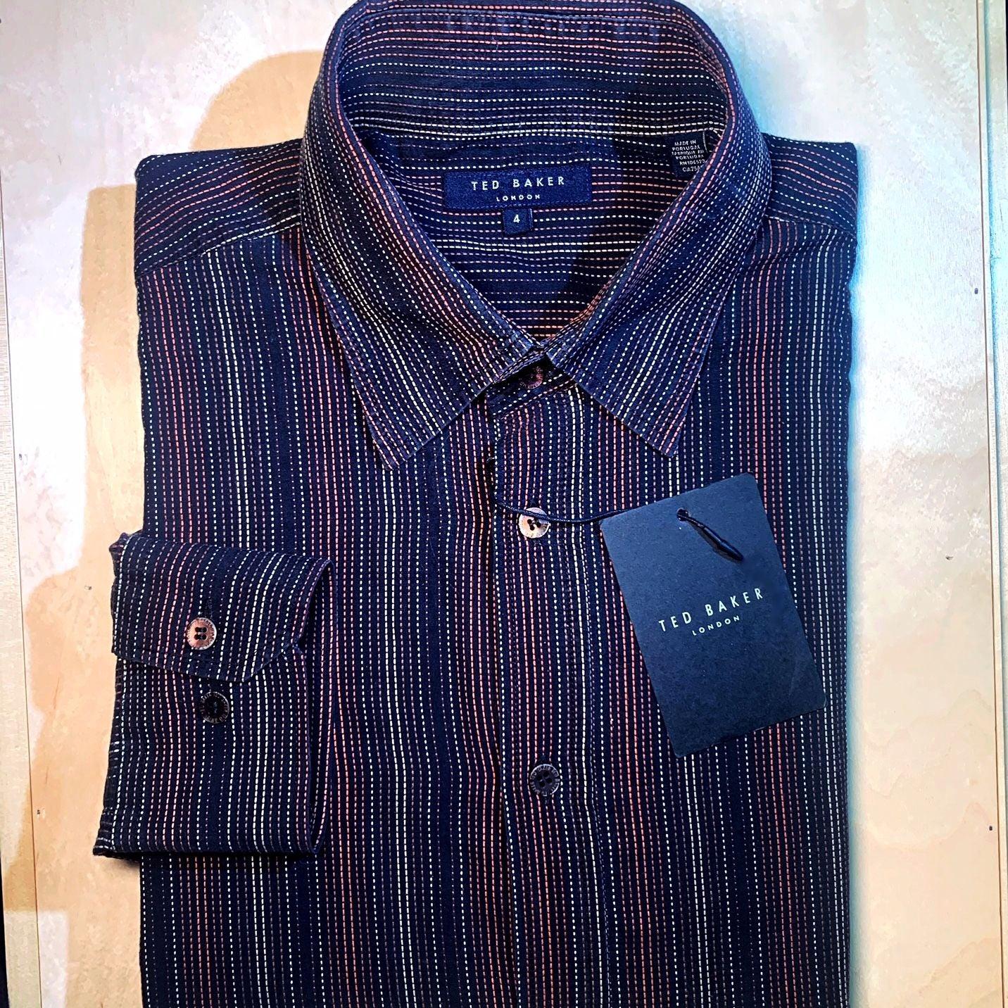 Ted Baker Men's Cotton Shirt, Sz 4 / L