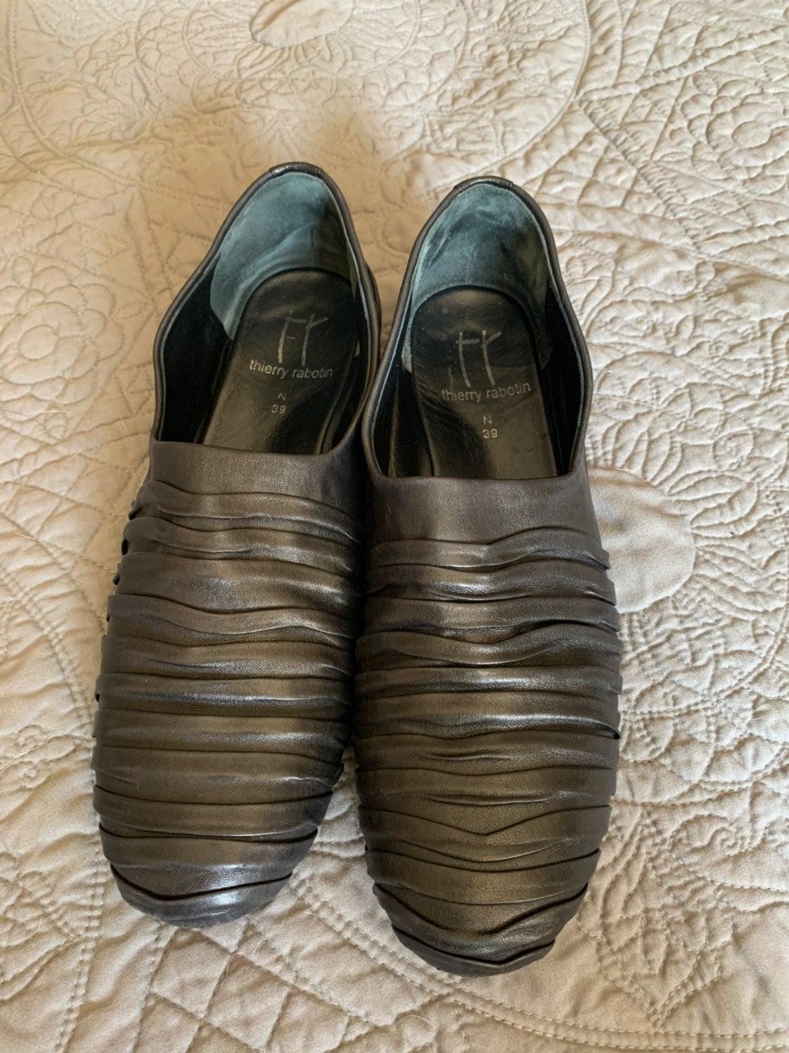 Thierry Rabotin black leather shoes