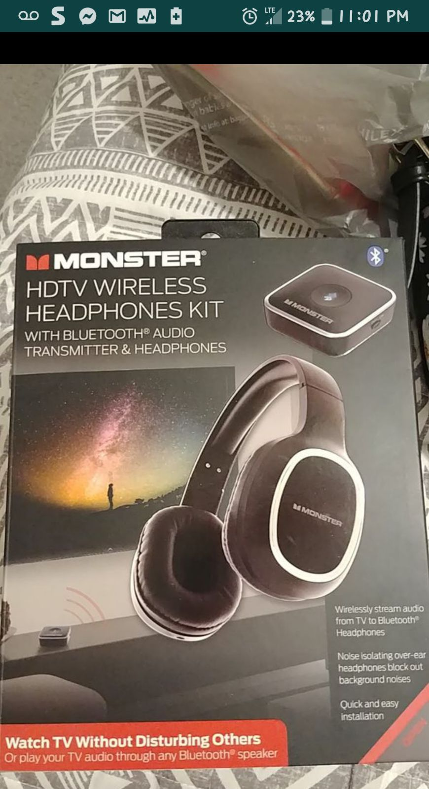 HDTV wireless headphones kit