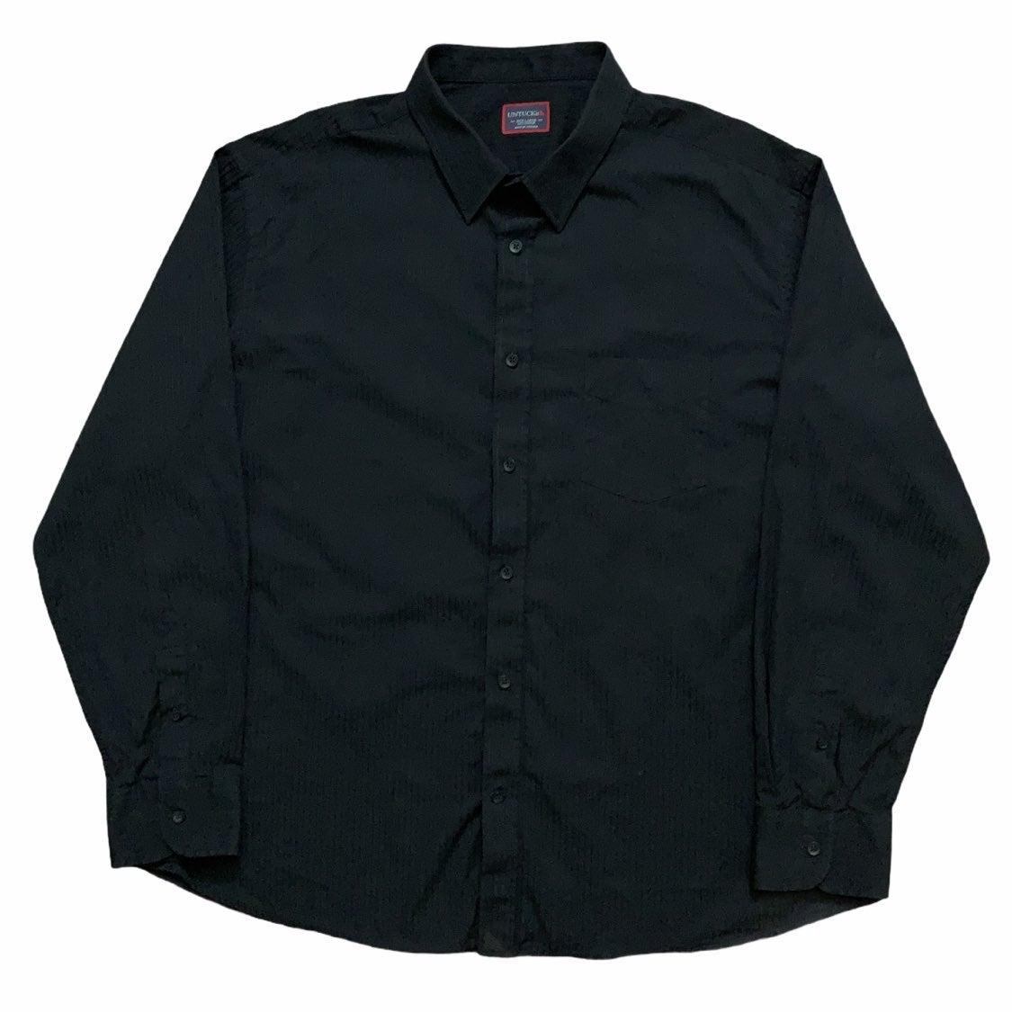 Untuckit Dress Shirt Black Striped 3XL