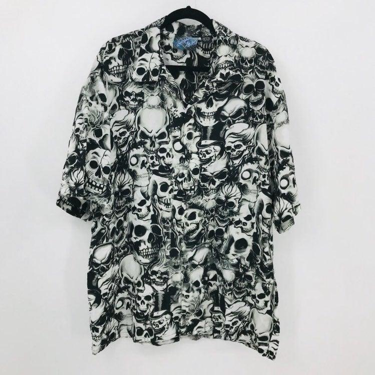 Sapphire Lounge Men's Skull Shirt 2XL