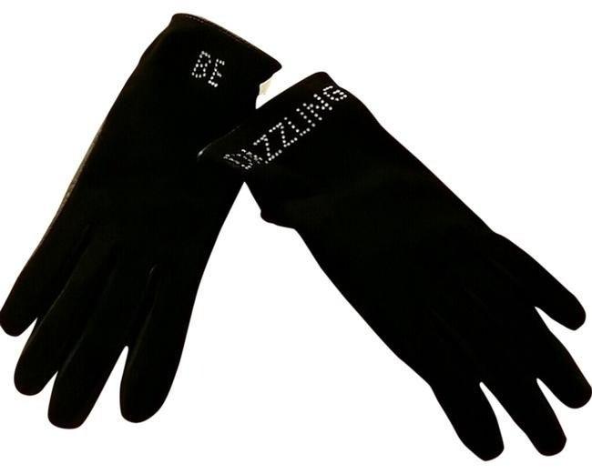 Kate Spade Black Be Dazzling Gloves 6.5