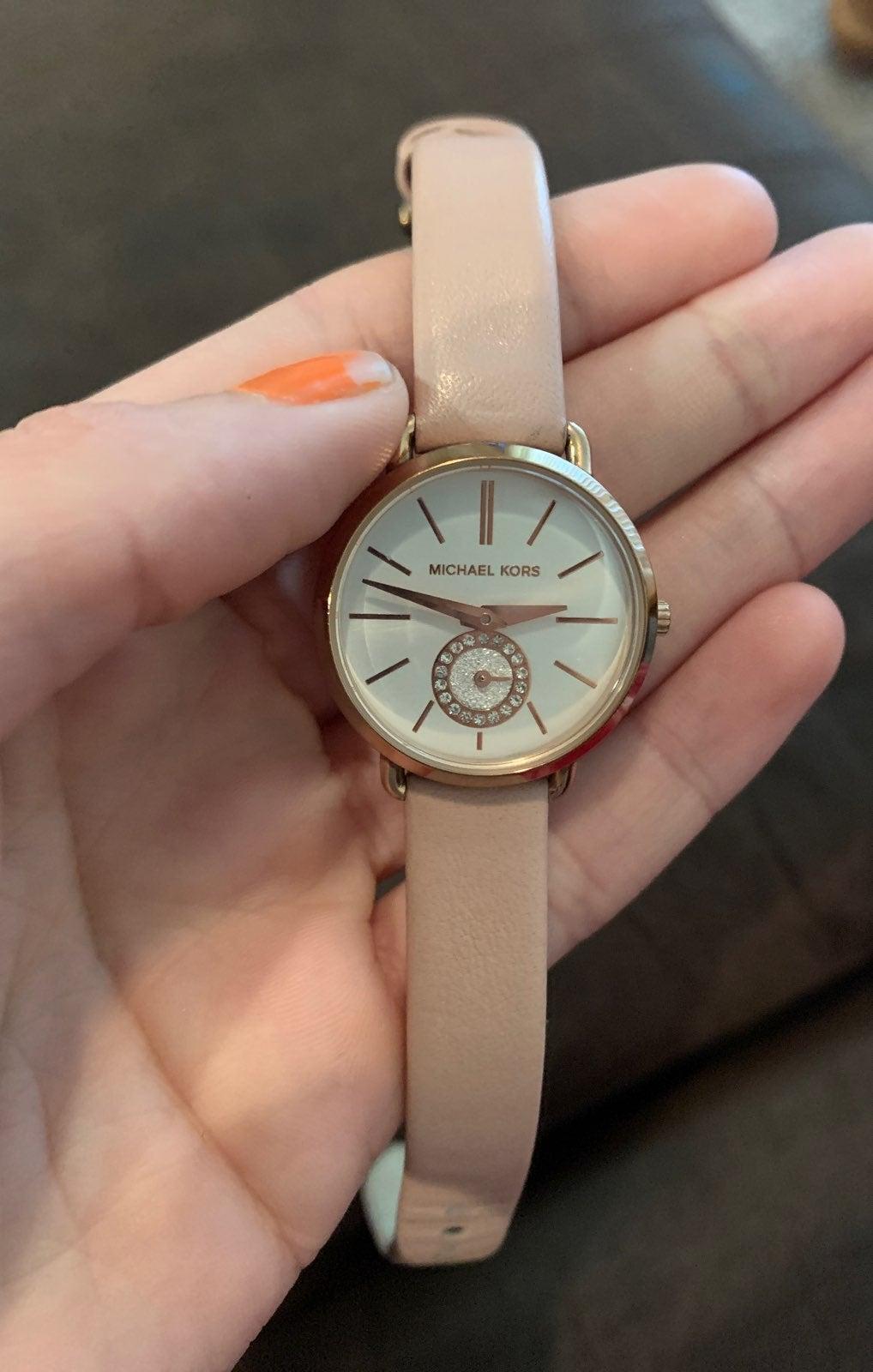 Micheal kors pastel pink watch