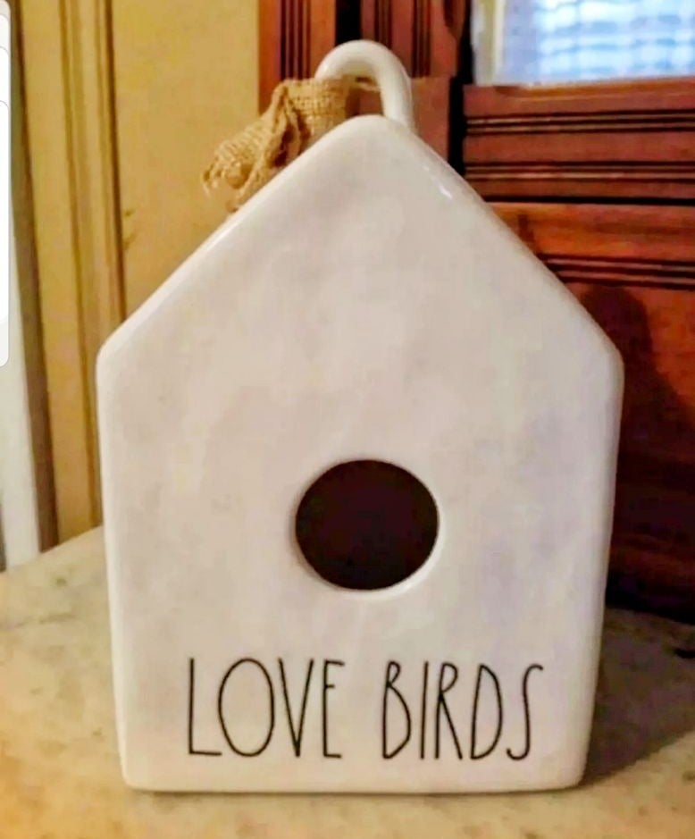 Rae Dunn lovebirds birdhouse