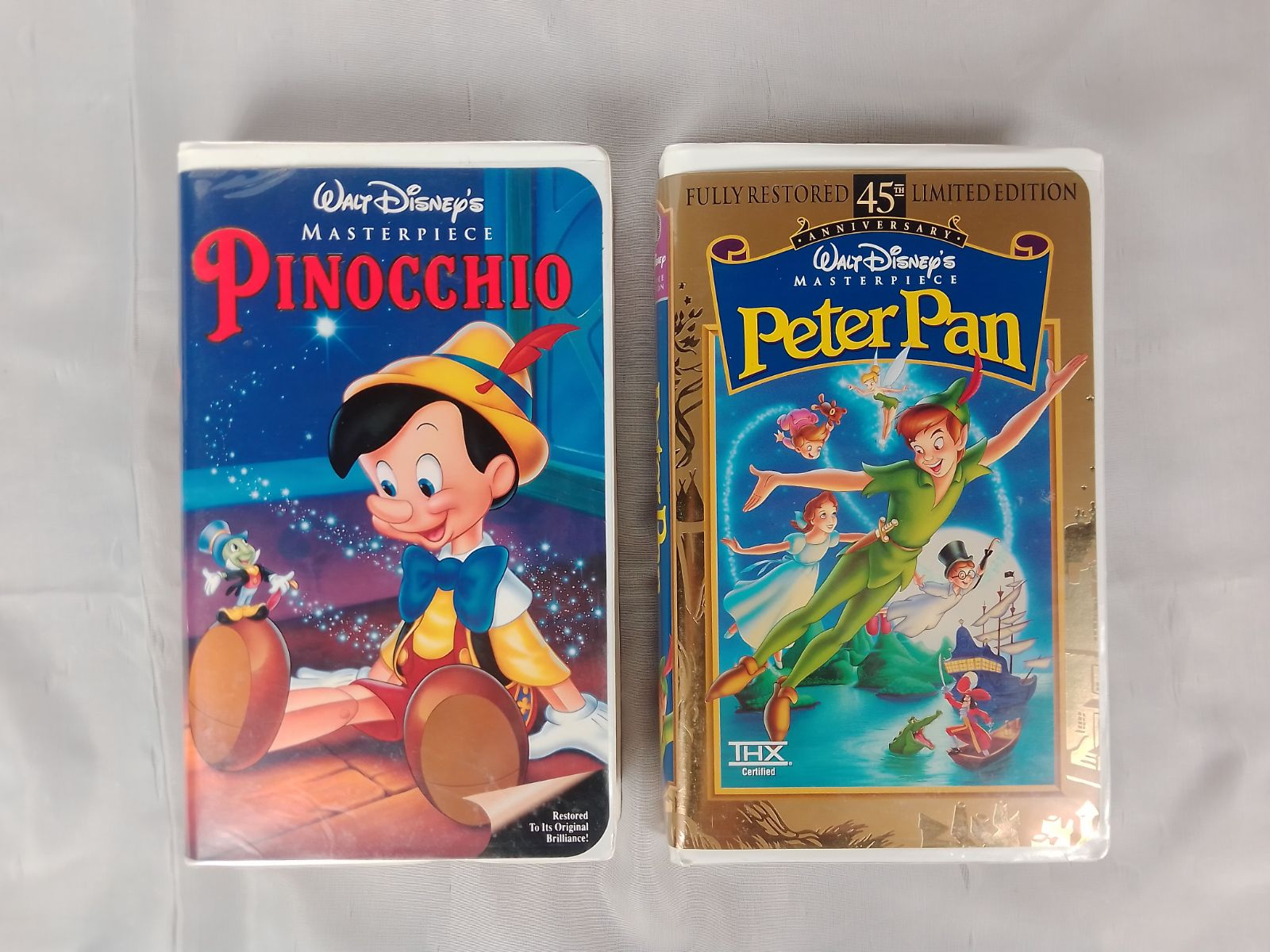 Disney VHS Masterpiece Pinocchio / Peter