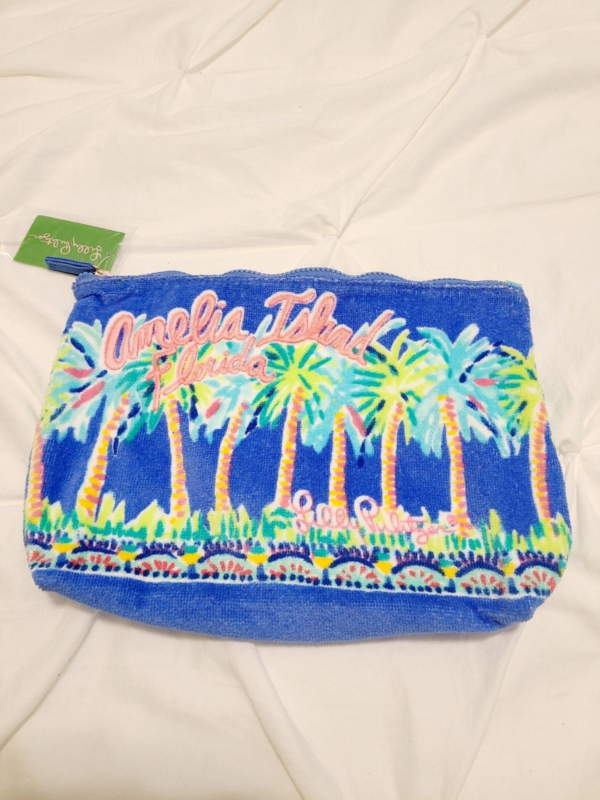 Lilly Pulitzer Blue palm Tree Bag