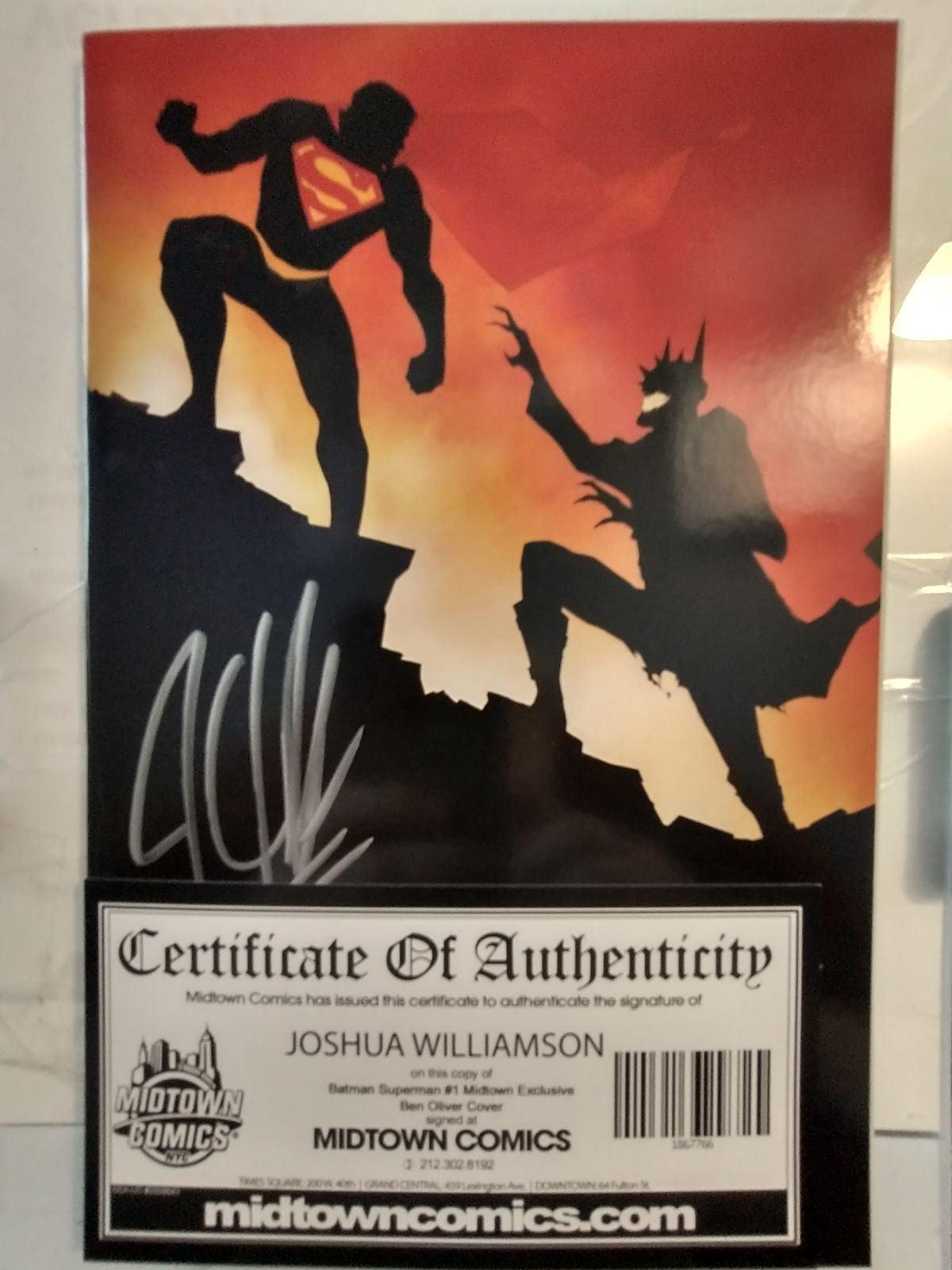 Batman Superman Signed #1 with COA