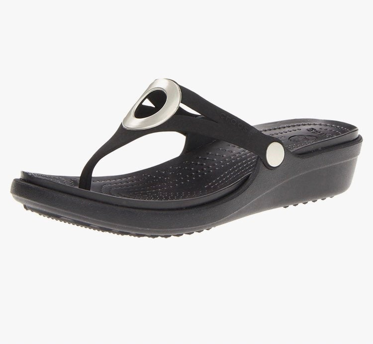 Crocs Sanrah Wedge Flip Flop Sandals