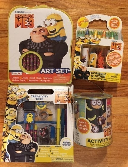 Minions Despicable me 3 Art set bundle