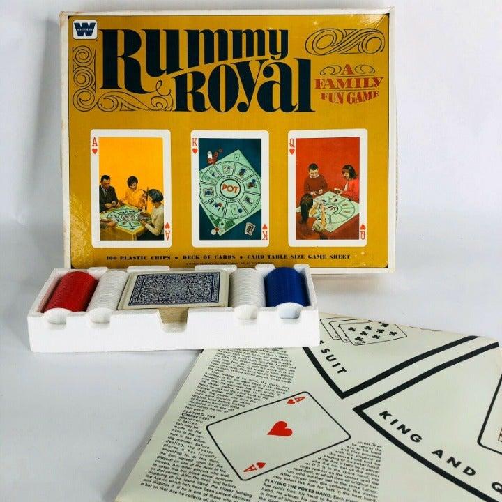 1965 Whitman Rummy Royal Card Game Box