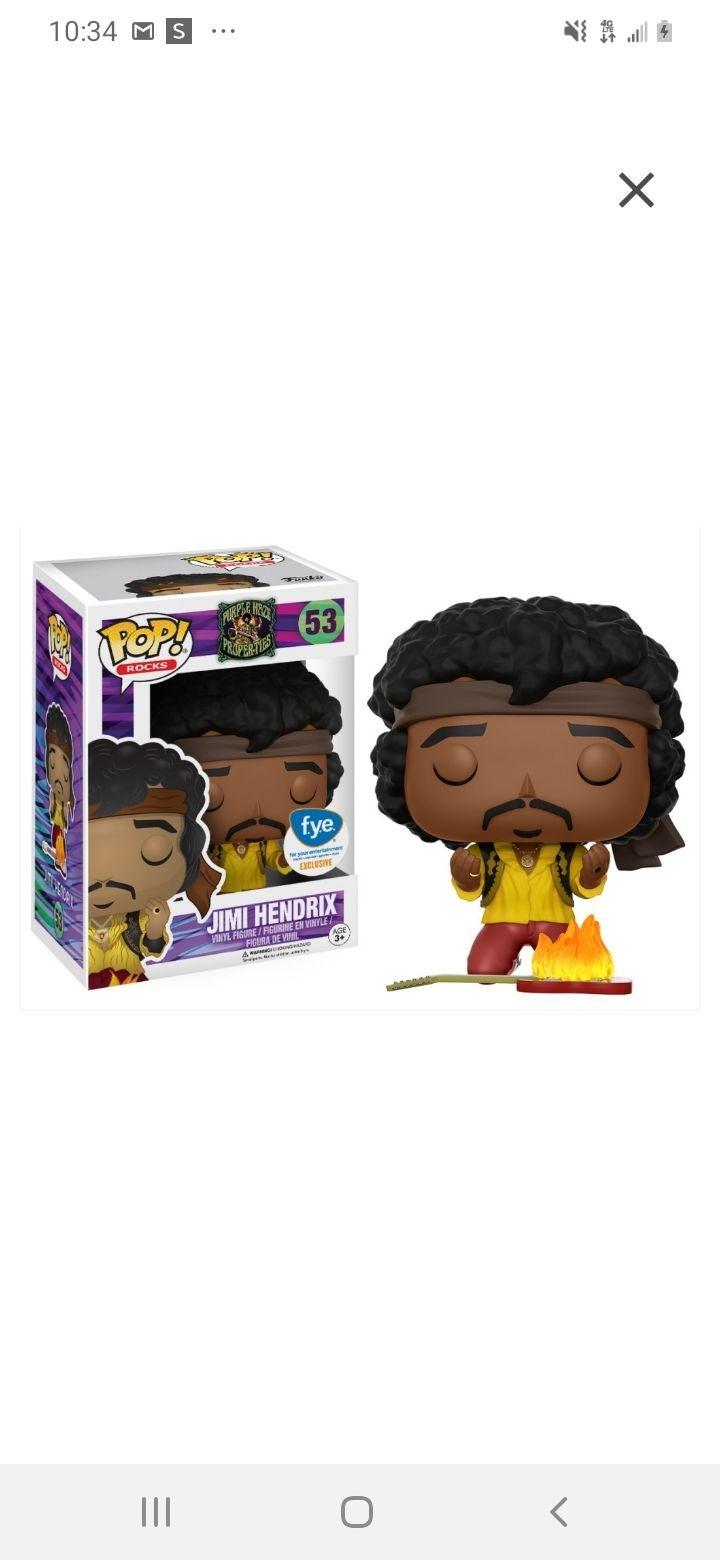 Funko Pop Jimi Hendrix FYE Exclusive