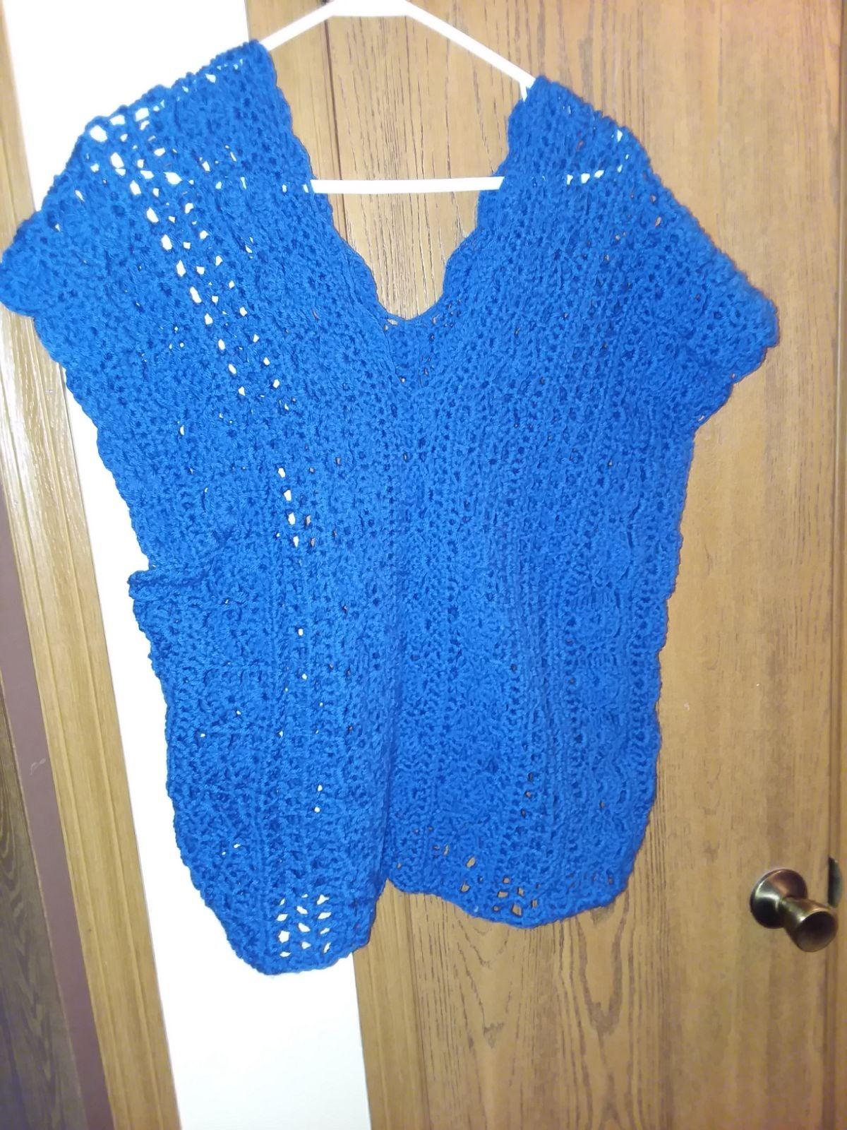 Hand crocheted vest