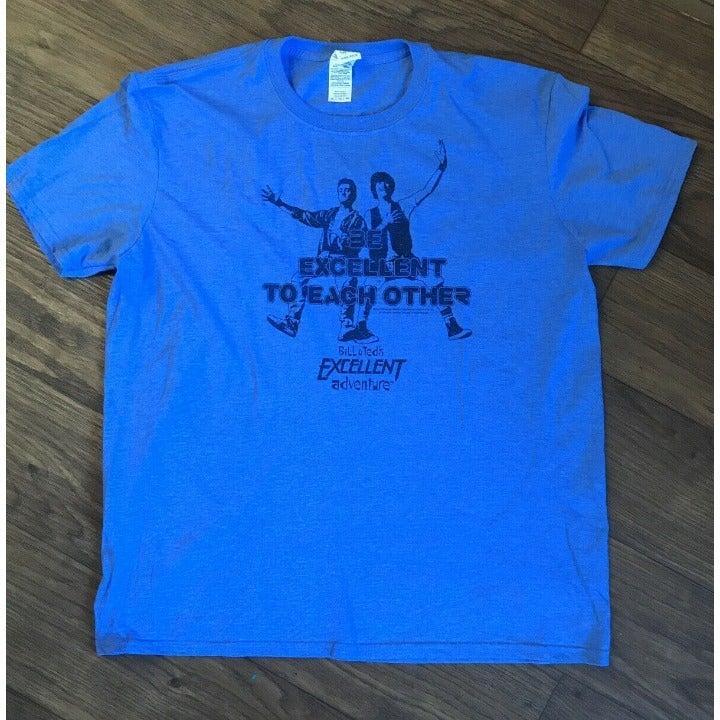 Gildan Mens Blue tee Shirt Size XL Bill