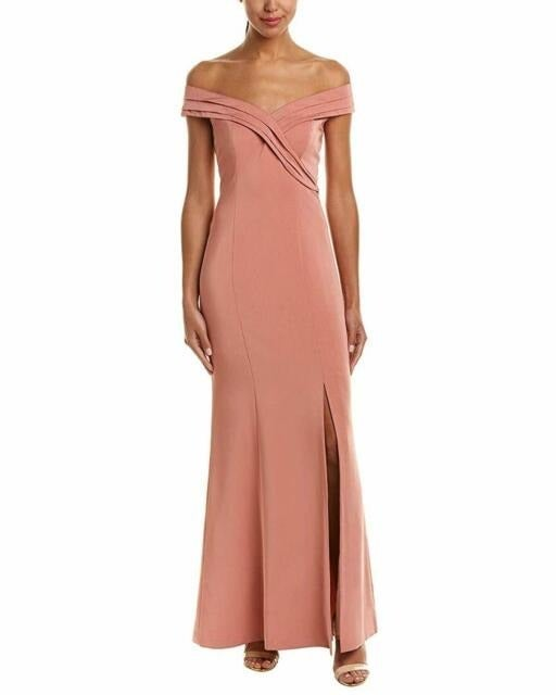 Kay Unger Off-The-Shoulder Gown