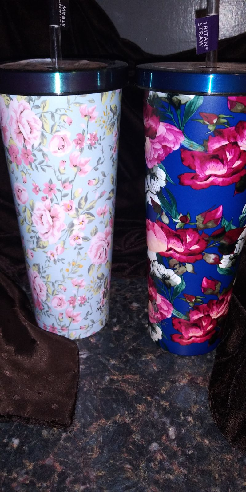 tumbler cups FLORAL chilly tumblers