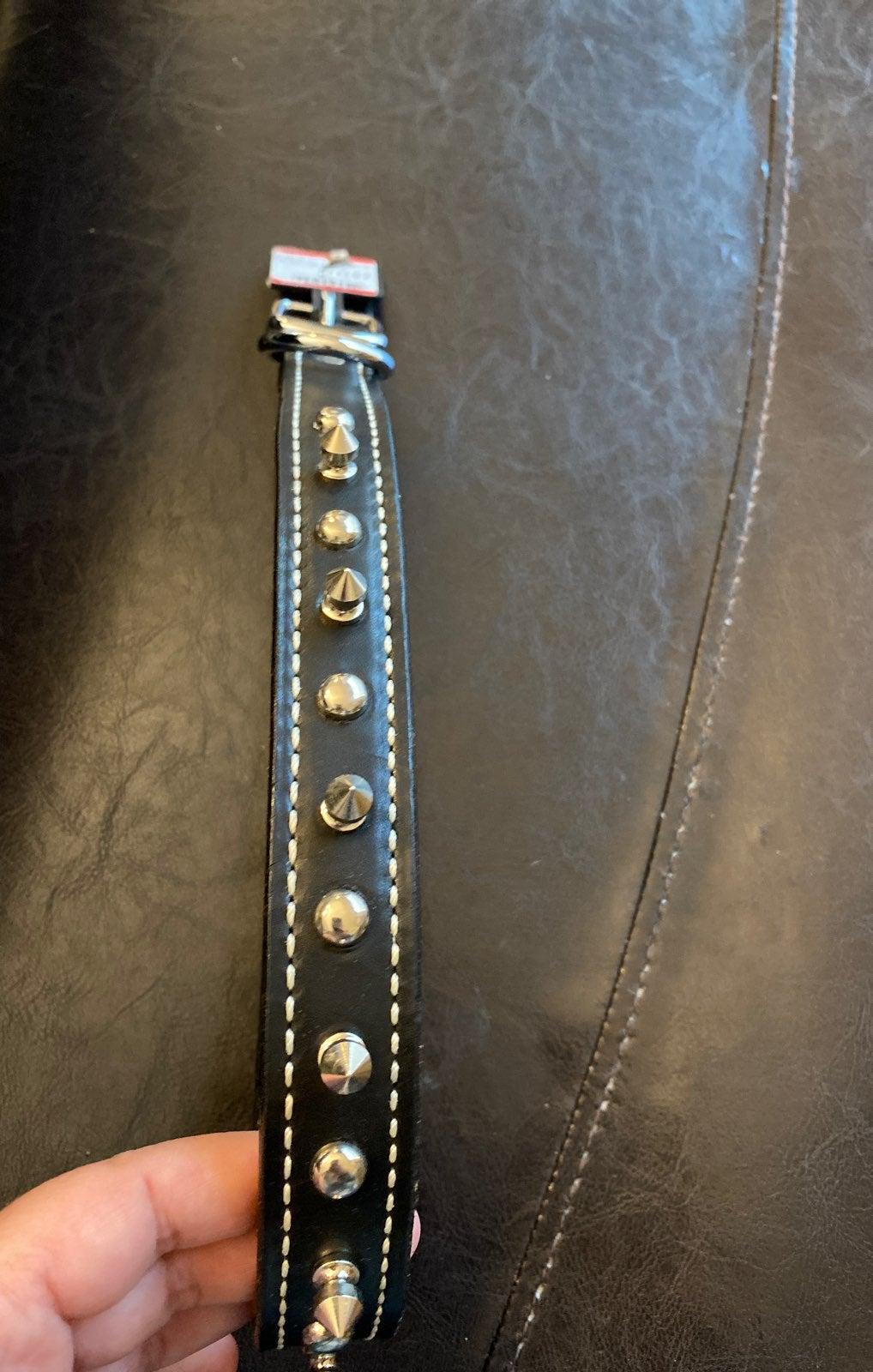 Large studded dog collar new