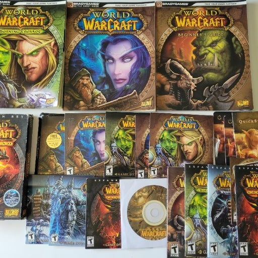 World of Warcraft Windows PC Lot - Games & Guides - Cataclysm, Crusade, Lich