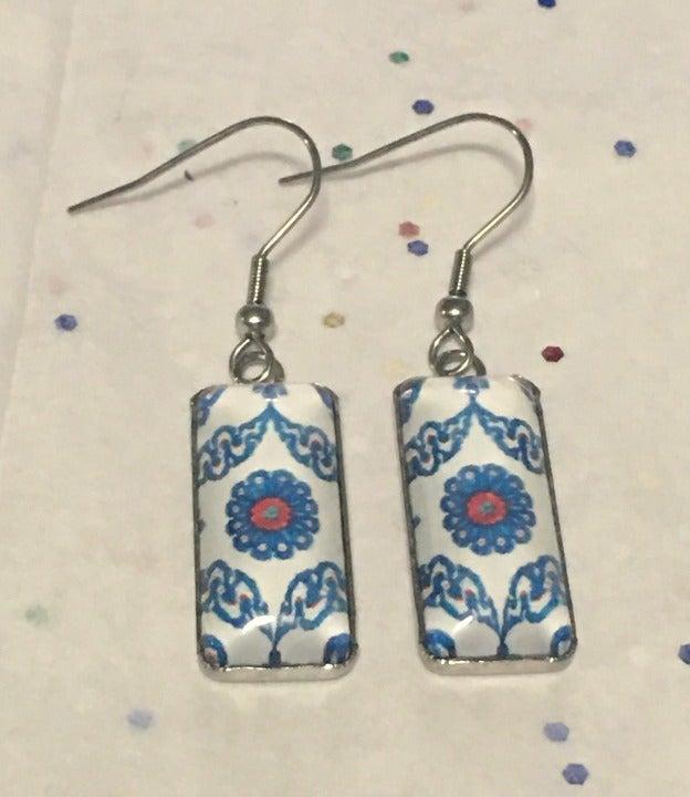 Tile design earrings * Bohemian Boho