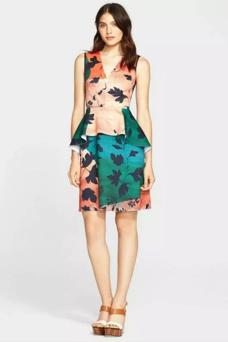 CLOVER CANYON Neoprene Fit & Flare Dress