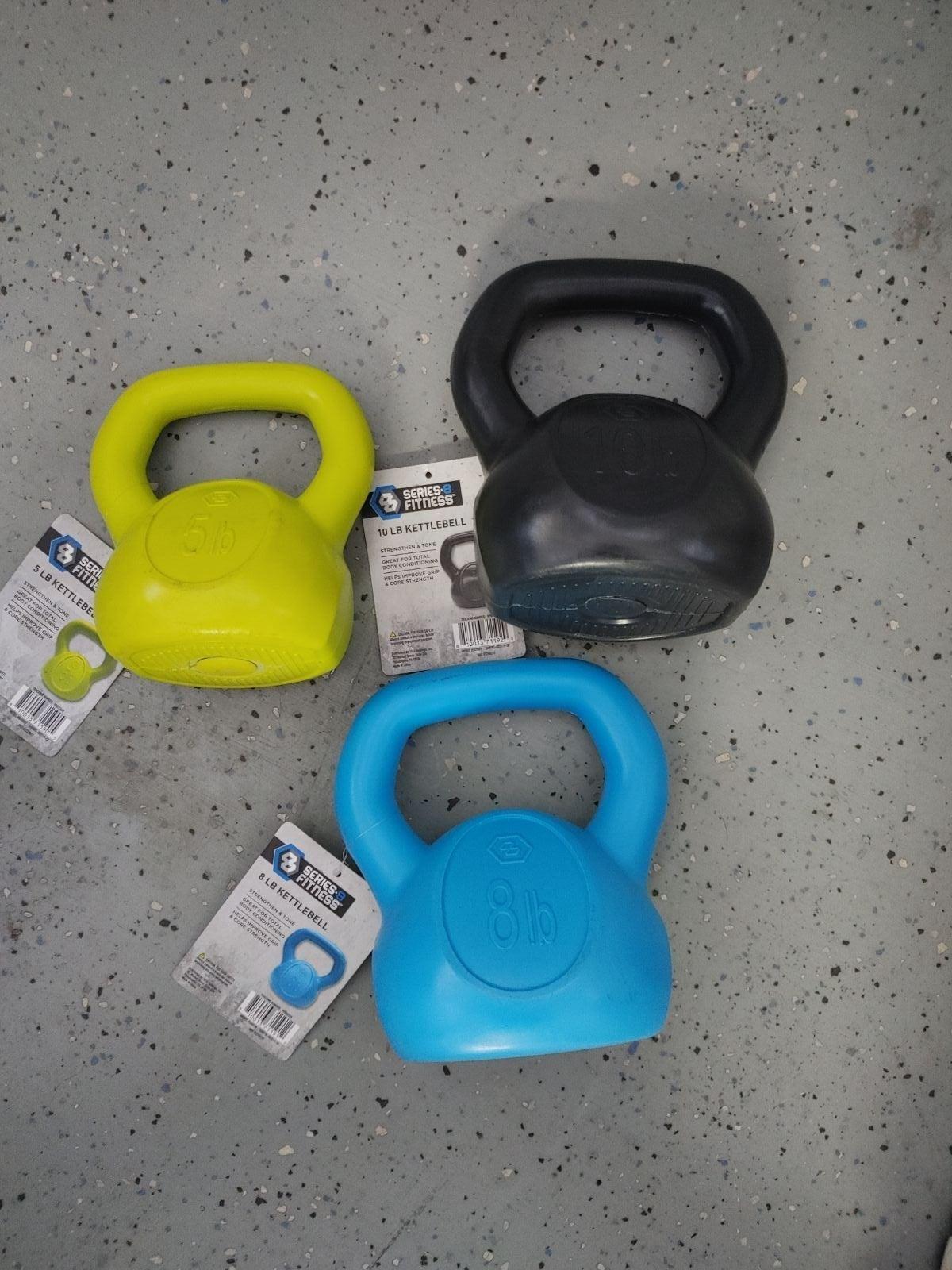 Kettlebell Bundle 3pc Workout Exercise