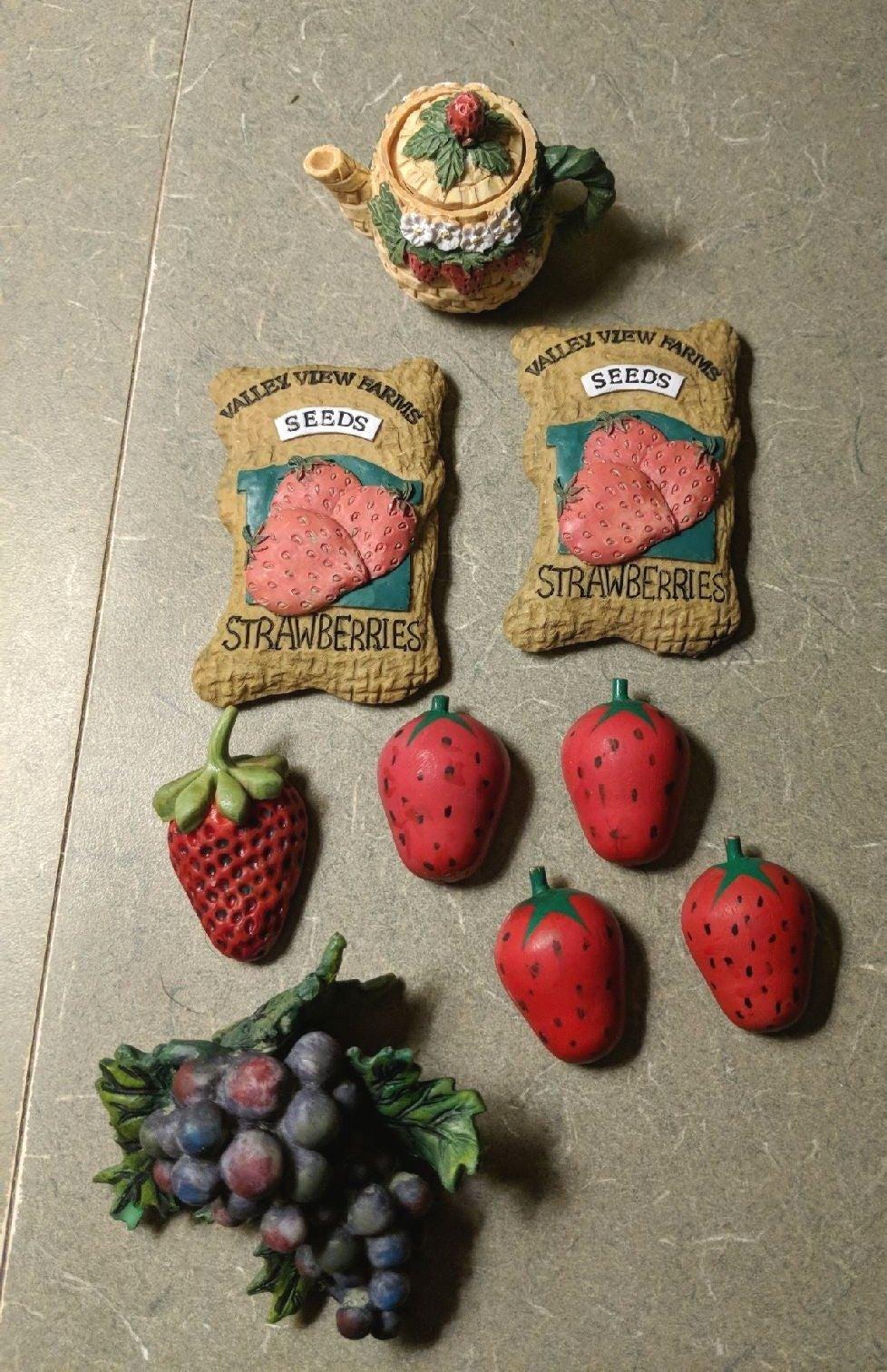 VTG Strawberry Magnets Grape Plant Hange