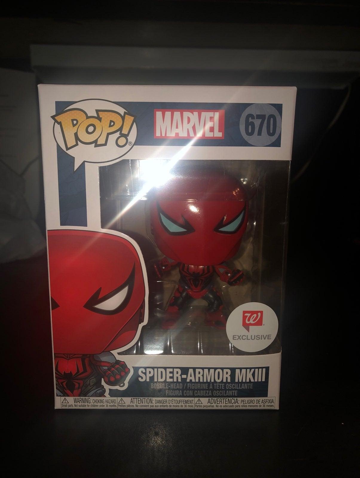 Spiderman Armor MKlll Funko Pop Walgreen