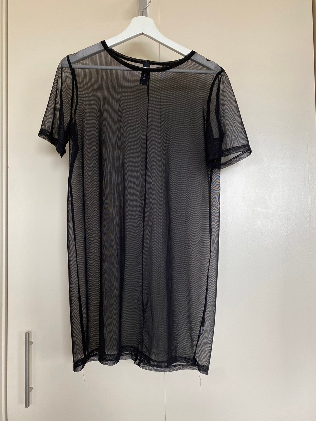 Mesh (sheer) tshirt dress
