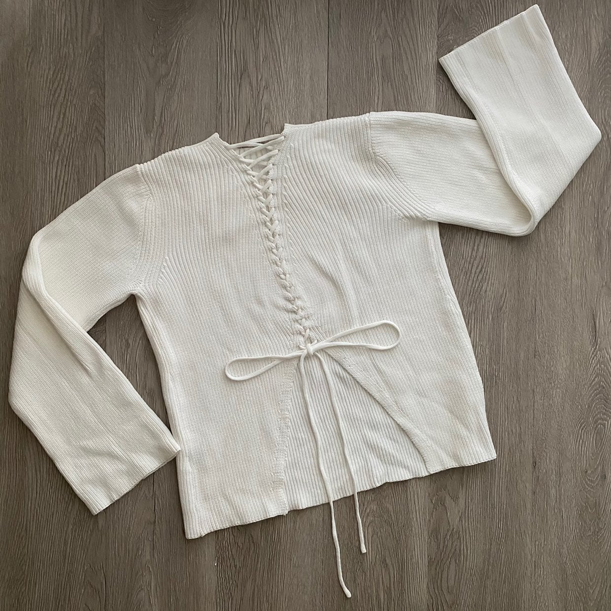 Olivaceous • Tie-Back Sweater Sz s