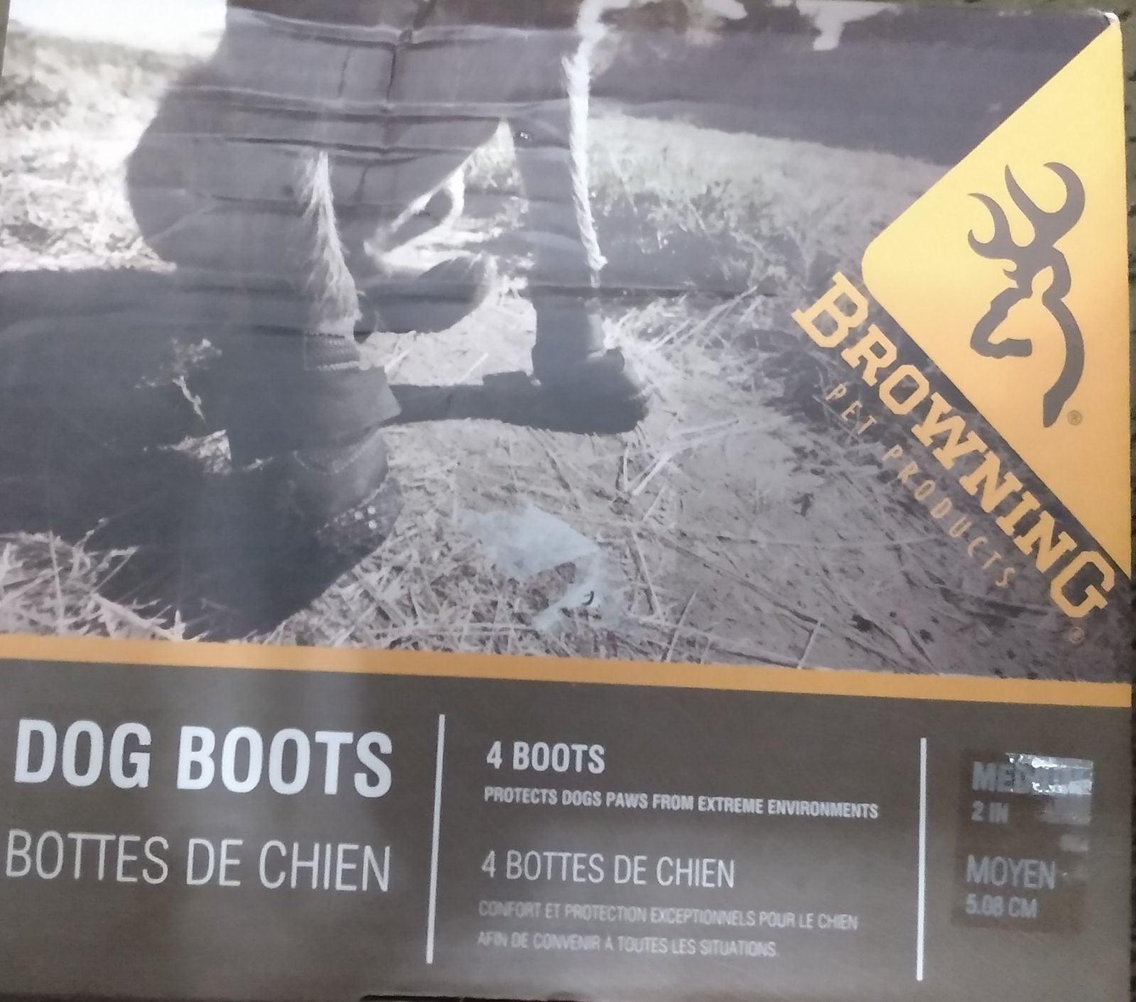 BROWNING MEDIUM DOG BOOTS /NIP
