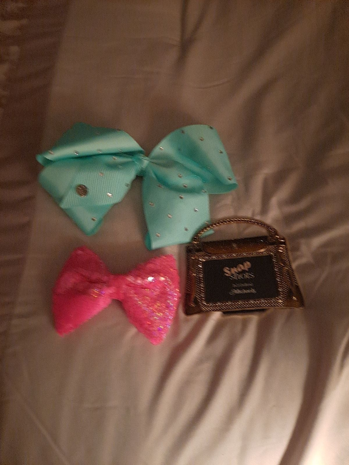 Hair bows and small picture frame