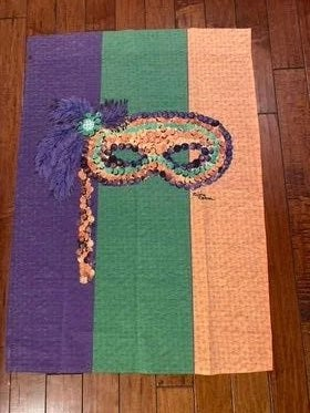 Large Mardi Gras Flag