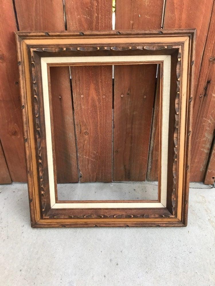 Vintage Wooden Frame 1960s 1970s