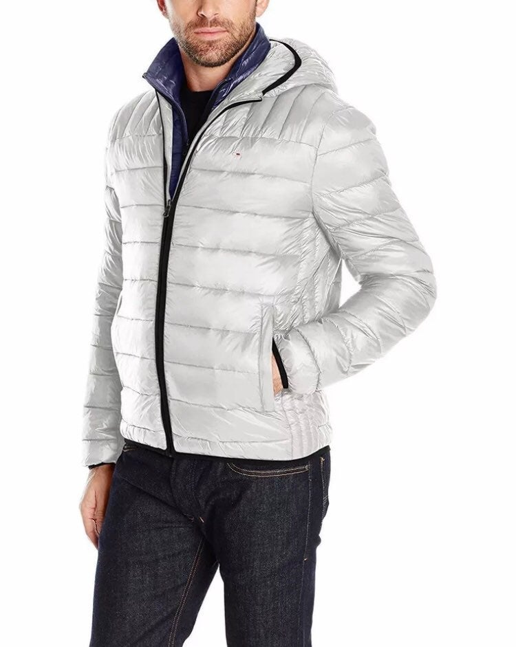 Men's Insulated Packable Hooded Nylon