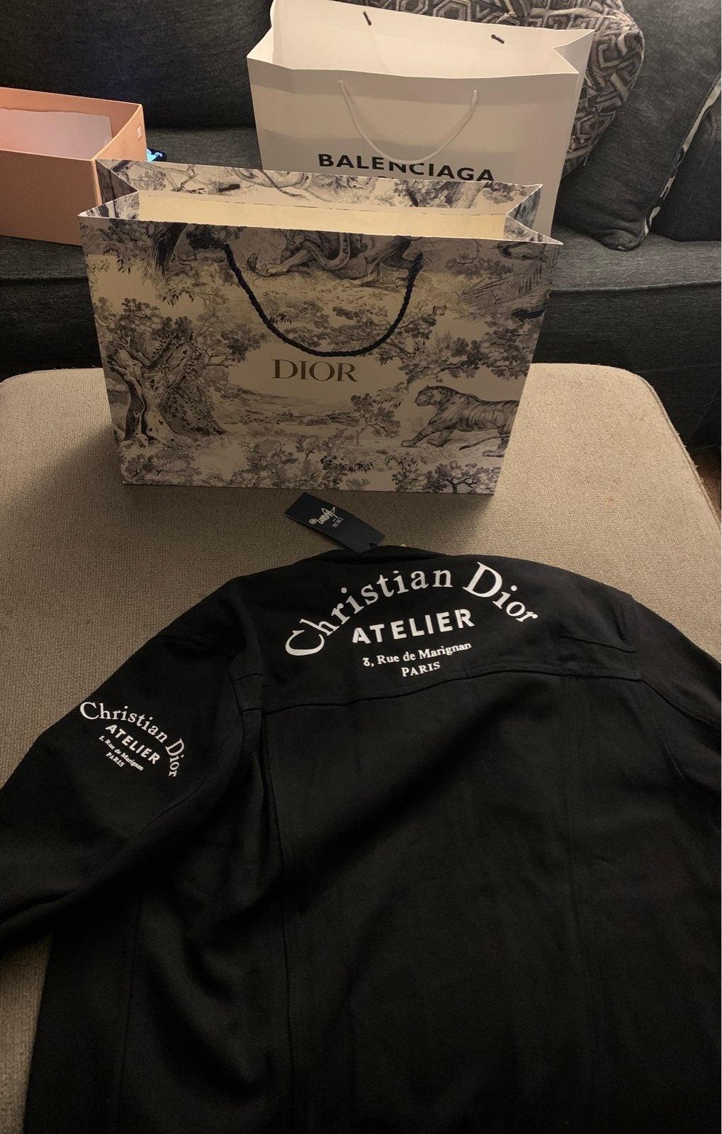 Christain dior black denim jacket