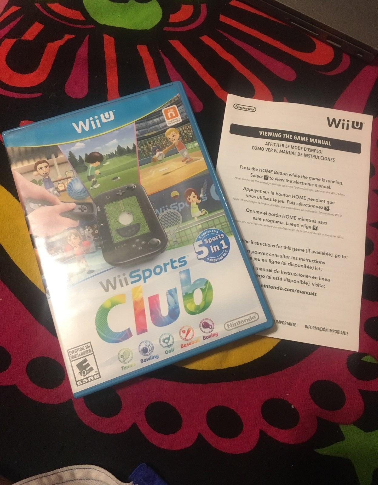 Wii sports club Empty box