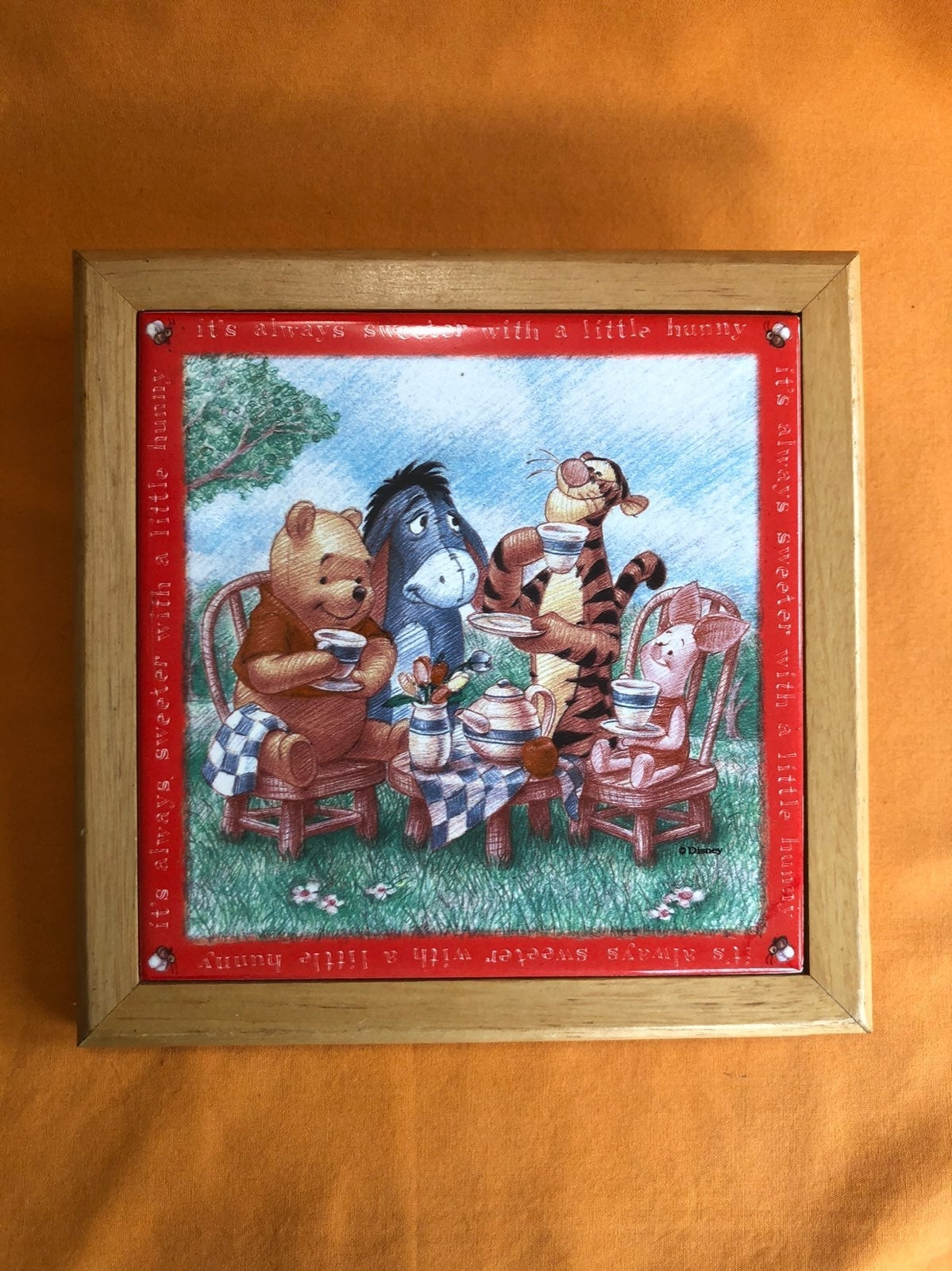 Winnie the Pooh Ceramic Trivet